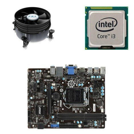 Kit Placa de Baza Second Hand MSI H81M-E34,